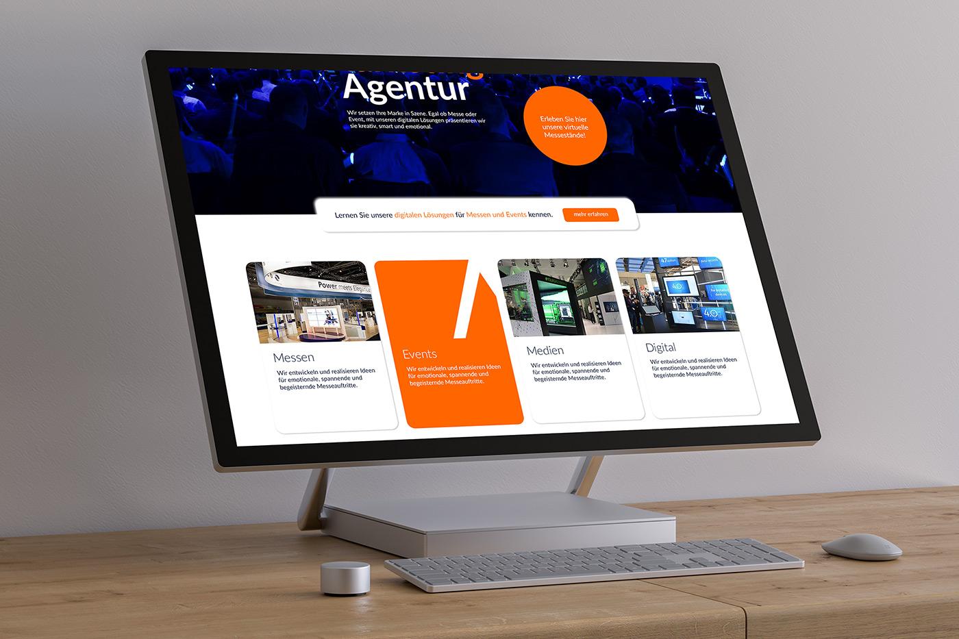 Webdesign und Web Style Guide für Firma commacross GmbH