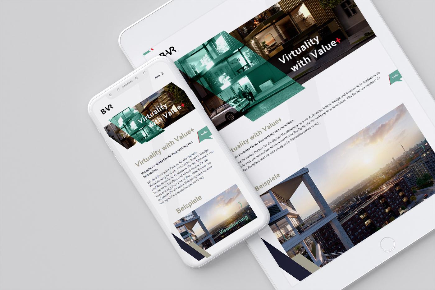 Webdesign und WordPress Programmierung für Firma B-VR
